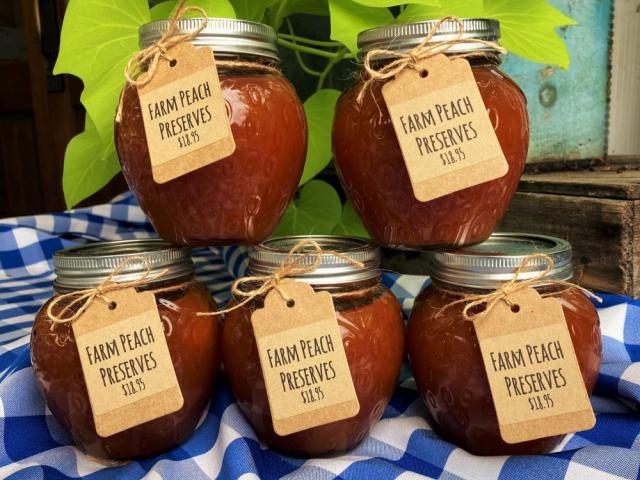 farm peach preserves